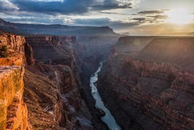 Toroweap Point Above the Colorado River on the Grand Canyon's North Rim by Stephen Alvarez