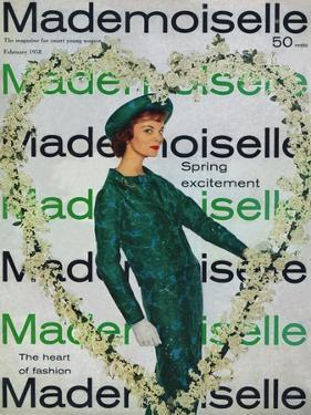 Mademoiselle Cover - February 1958 by Stephen Colhoun