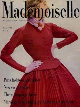Mademoiselle Cover - October 1951 by Stephen Colhoun