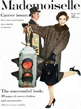 Mademoiselle Cover - October 1957 by Stephen Colhoun