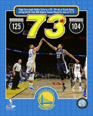 Stephen Curry hits 400th 3-pt basket at Golden State Warriors record 73rd win of season- 4/13/16