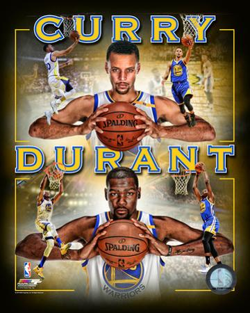 Stephen Curry & Kevin Durant 2016 Portrait Plus