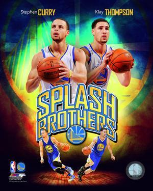 Stephen Curry & Klay Thompson Splash Brothers Portrait Plus
