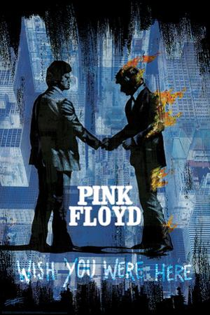 Stephen Fishwick: Pink Floyd- Wish You Were Here Distressed by Stephen Fishwick