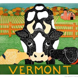 Bessie Vermont Black Autumn by Stephen Huneck