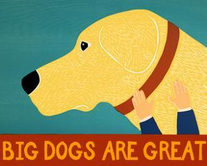 Big Dogs Are Great Yellow by Stephen Huneck