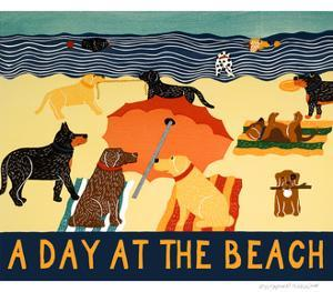 Day At The Beach by Stephen Huneck
