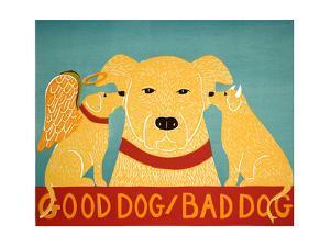 Good Dog Bad Dog Yellow by Stephen Huneck