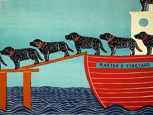 Island Ferry Black Mv Temp by Stephen Huneck