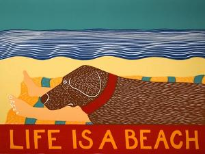 Life Is A Beach Choc by Stephen Huneck