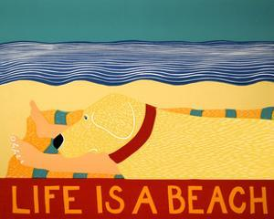 Life Is A Beach Yellow by Stephen Huneck