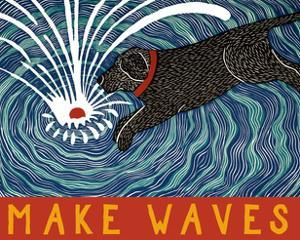 Make Waves Wbanner by Stephen Huneck