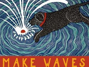 Make Waves Wbanner by Stephen Huneck