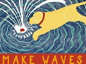 Make Waves Yellow Wbanner by Stephen Huneck