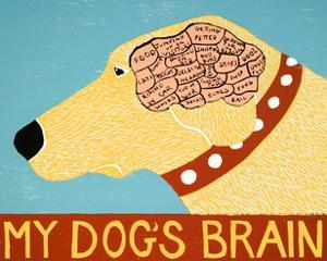 My Dogs Brain Yellow by Stephen Huneck