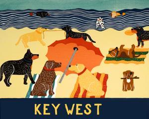 Ocean Ave Key West by Stephen Huneck