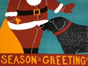 Seasons Greetings Black by Stephen Huneck
