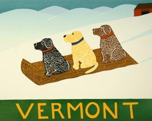 Vermont Sled Dogs by Stephen Huneck