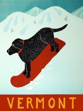 Vermont Snowboard Black by Stephen Huneck