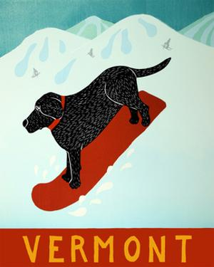 Vermont Snowboard Black by Stephen Huneck
