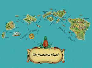 The Hawaiian Islands - from The Story of Pineapple by Stephen J. Voorhies