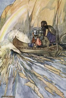 Bear us swiftly, Boat of Mananan, to the Garden of Hesperides', c1910 by Stephen Reid