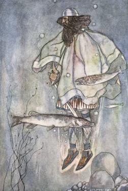 Fergus goes down into the lake', c1910 by Stephen Reid