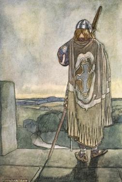 'Finn heard far off the first notes of the fairy harp', c1910 by Stephen Reid