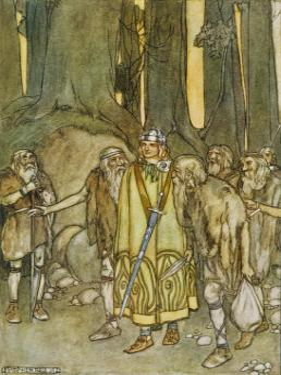 Finn Mccool Comes to Aid the Fianna by Stephen Reid