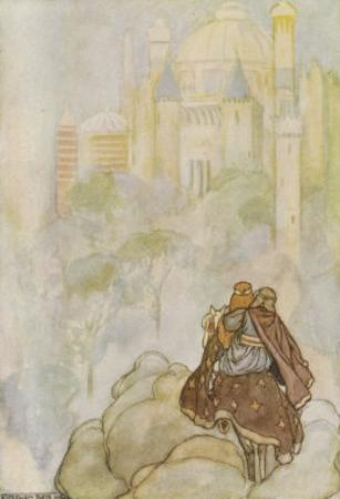 Niam of the Golden Hair Takes Oisin to Her Father's Land, The Land Oversea