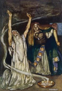 The Druid Warns Maeve About Cuchulain by Stephen Reid