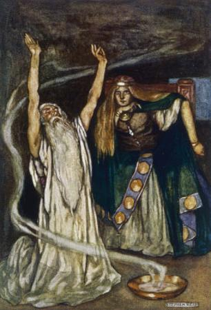 The Druid Warns Maeve About Cuchulain