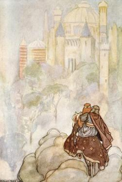 They rode up to a stately palace', c1910 by Stephen Reid