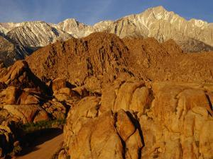 Alabama Hills Looking Towards Sierras, Owens Valley, California, USA by Stephen Saks