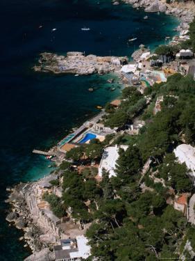 Birds-Eye View of Piccola Marina, Capri, Italy by Stephen Saks