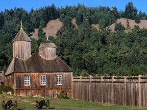 Building in Fort Ross Historic State Park, California, USA by Stephen Saks
