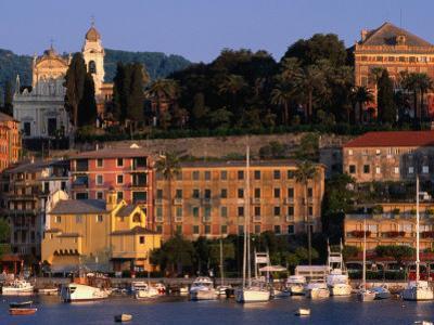 Buildings on Waterfront, Santa Margherita, Liguria, Italy by Stephen Saks