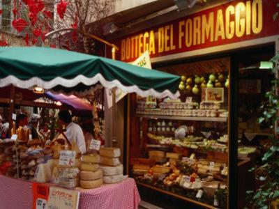 Cheese Stall Outside Cheese Shop on Via Pessina, Lugano, Ticino, Switzerland
