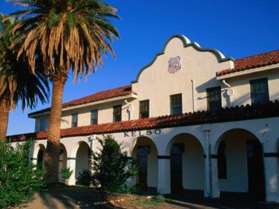 Kelso Railroad Depot and Visitors Centre in Mojave National Preserve, California, USA
