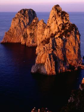 Large Rocks on Coast, Capri, Italy by Stephen Saks