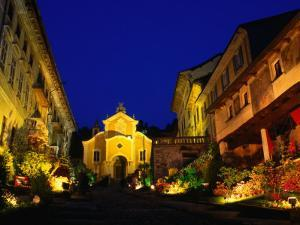 Medieval Town of Orta San Guilio and Its Yellow Church, Milan, Italy by Stephen Saks