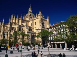 Segovia Cathedral on Plaza Major, Segovia, Castilla-Y Leon, Spain by Stephen Saks