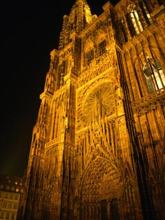 Strasbourg's Cathedrale of Notre Dame at Night, Strasbourg, Alsace, France