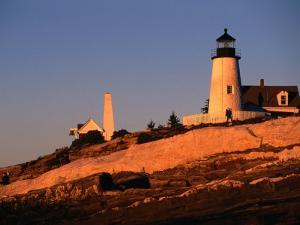 Sunset Over Pemaquid Lighthouse Built in 1827, Maine, USA by Stephen Saks
