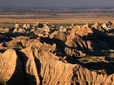 Valley from Pinnacles Overlook, Badlands National Park, South Dakota, USA