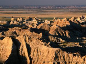 Valley from Pinnacles Overlook, Badlands National Park, South Dakota, USA by Stephen Saks