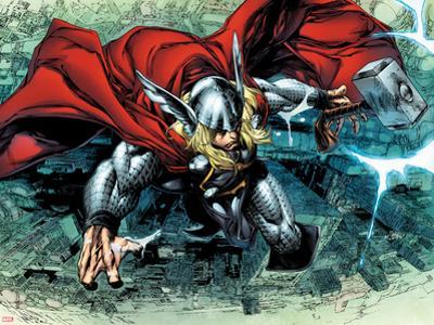 Thor: The Deviants Saga No.3: Thor Flying by Stephen Segovia