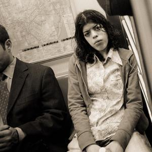 Woman Sitting on a Subway and Staring, 2004 by Stephen Spiller