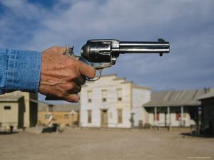 A Close View of a Sixshooter Accentuates This Western Movie Location by Stephen St. John