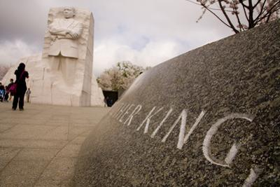 A Low-Angle View of the National Memorial to Dr. Martin Luther King by Stephen St. John